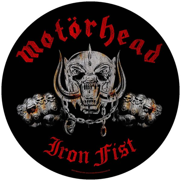 Motörhead runder Backpatch Iron Fist schwarz rot