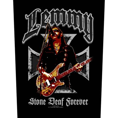 Lemmy Kilmister Backpatch Stone deaf schwarz bunt
