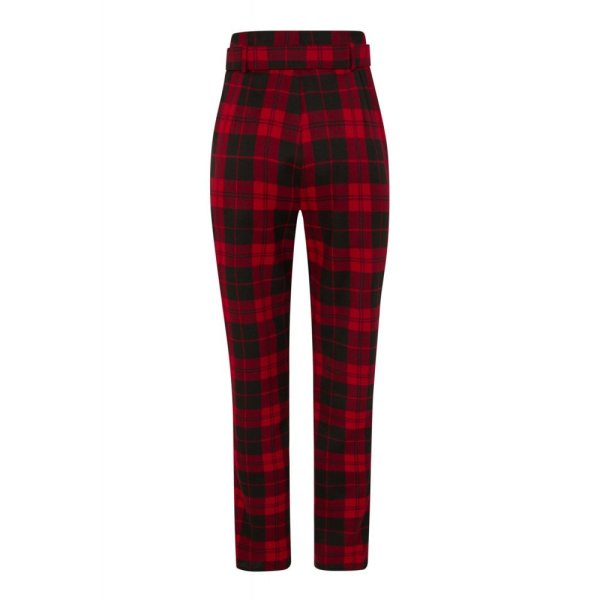 Collectif THEA REBEL CHECK TROUSERS