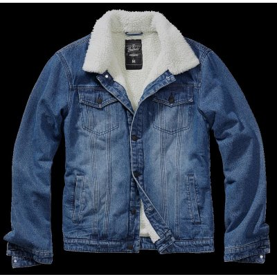 Brandit Denim Blue-Off White Sherpa Demin Jacket