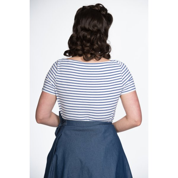 Banned Top Italy Sail Stripe Blau