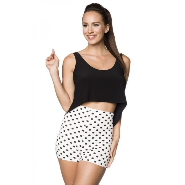 Atixo High Waist Shorts Weiß