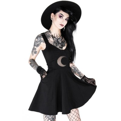 Restyle Kleid Shape of the Moon Schwarz