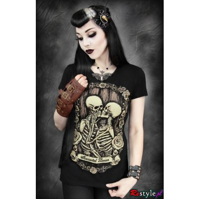 Restyle Top Immortal Lovers Schwarz Braun