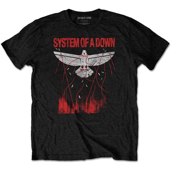 System of a Down T-Shirt Dove Overcome Schwarz