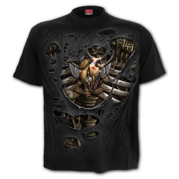 Spiral T-Shirt Steampunk Ripped