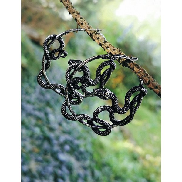 Restyle Entwine Hoops Ohrringe Silber