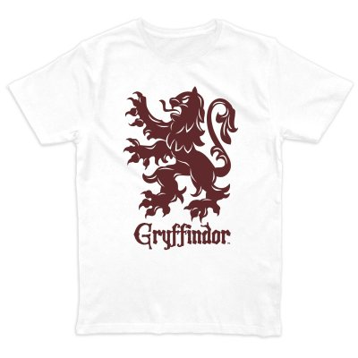 Harry Potter Griffindor Crest T-Shirt Weiss