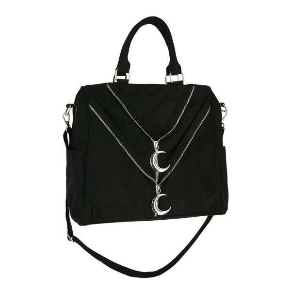 Restyle doble Zipped Moon Shopper Tasche