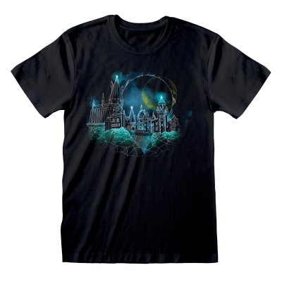 Harry Potter  T-Shirt M Wireframe Hogwarts