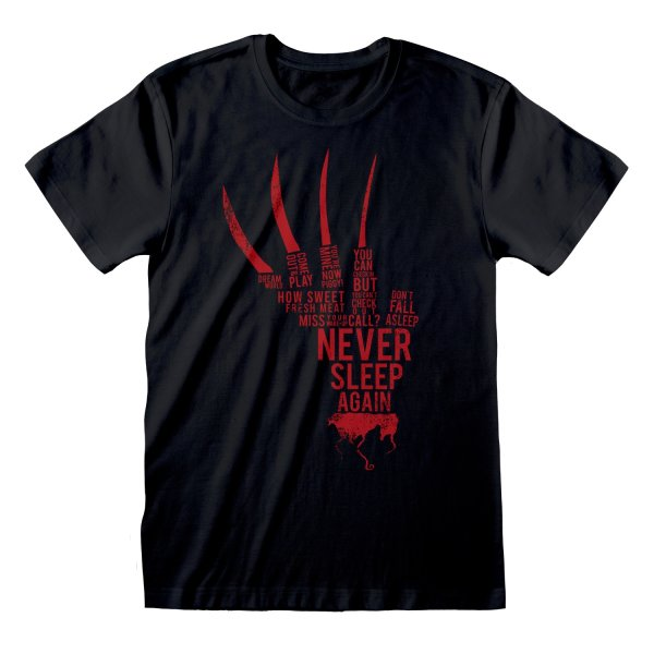Nightmare On Elm Street T-Shirt Glove Text